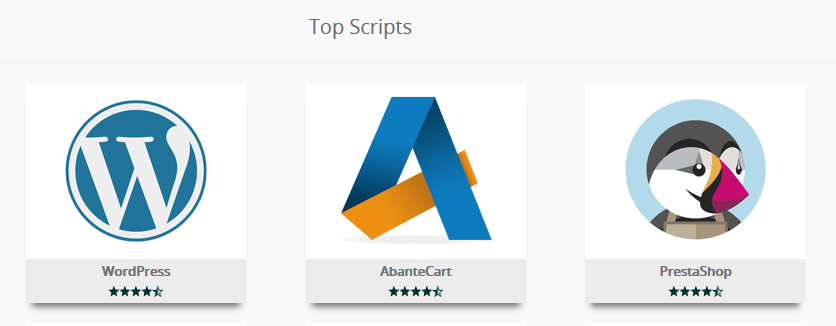 Softaculous Top Scripts WordPress
